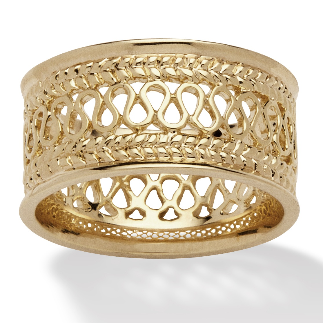 Open Weave Decorative Ring In 14k Gold Plated At Palmbeach