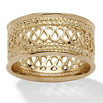 SETA JEWELRY Open Weave Decorative Ring in 14k Gold-Plated