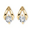 Related Item .80 TCW Round Cubic Zirconia Earrings in Yellow Gold Tone