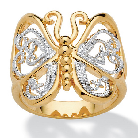 Filigree Butterfly Ring in 18k Gold-Plated at PalmBeach Jewelry