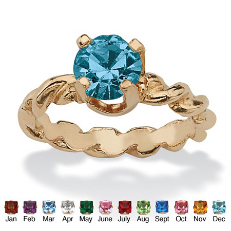 Round Birthstone 10k Gold Baby Ring Charm at PalmBeach Jewelry