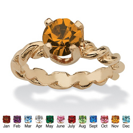 Round Birthstone 10k Gold Baby Ring Charm at PalmBeach Jewelry