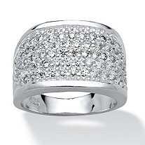 3.60 TCW Round Cubic Zirconia Sterling Silver Ring
