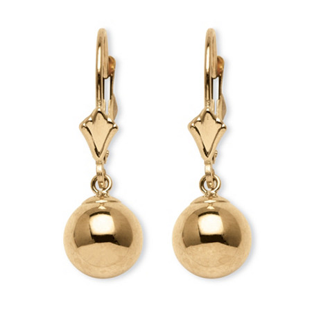 Ball Drop Earrings in 14k Gold at PalmBeach Jewelry