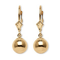 Ball Drop Earrings in 14k Gold
