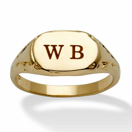 Personalized Initial Ring 14k Yellow Gold-Plated Sizes 6-16 at PalmBeach Jewelry