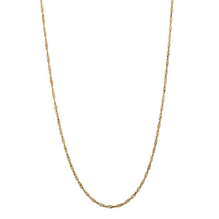 Twisted Rope Chain Necklace in 10k Yellow Gold 20