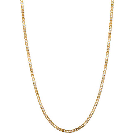 Mariner-Link Chain Necklace in Solid 10k Yellow Gold 20