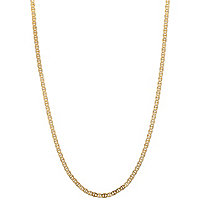 "Mariner-Link Chain Necklace in Solid 10k Yellow Gold 20"" (2mm)"