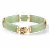 Related Item Genuine Green Genuine Jade 14k Yellow Gold Macaroni-Link Bracelet 7.25
