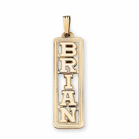Gold personalized name pendant at palmbeach jewelry 10k gold personalized name pendant at palmbeach jewelry aloadofball Gallery