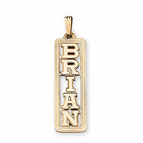 SETA JEWELRY 10k Gold Personalized Name Pendant
