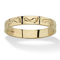 SETA JEWELRY 10k Yellow Gold Footprints Band