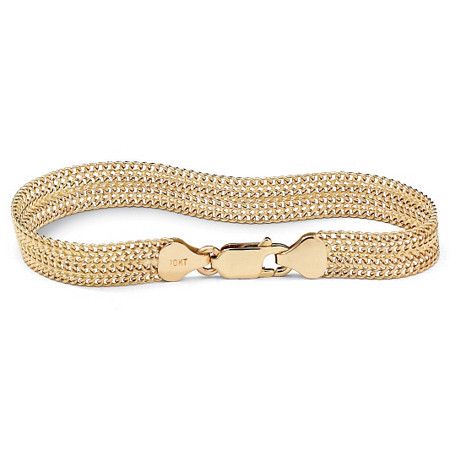 "Mesh Link Bracelet in 10k Gold 7 1/4"" at PalmBeach Jewelry"