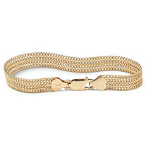 SETA JEWELRY Mesh Link Bracelet in 10k Gold 7 1/4