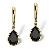 Related Item Pear-Shaped Genuine Onyx 14k Yellow Gold-Plated Drop Earrings
