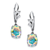 Related Item 5.08 TCW Oval-Cut Aurora Borealis Cubic Zirconia Drop Earrings in Sterling Silver