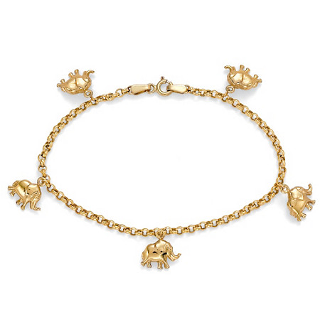 10k Gold Elephant Charm Bracelet at PalmBeach Jewelry