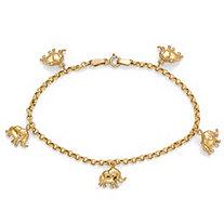 SETA JEWELRY 10k Gold Elephant Charm Bracelet