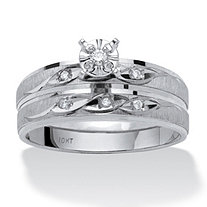Diamond Accent Two-Piece Bridal Set in 10k White Gold