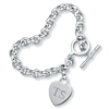 Related Item Personalized Initial Heart Charm Bracelet in Sterling Silver 8