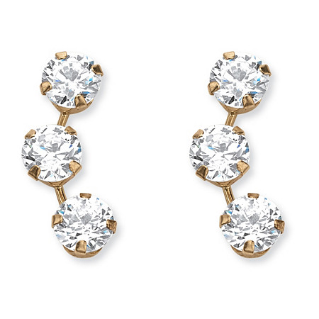 1.50 TCW Round Cubic Zirconia Stud Earrings in 14k Gold at PalmBeach Jewelry