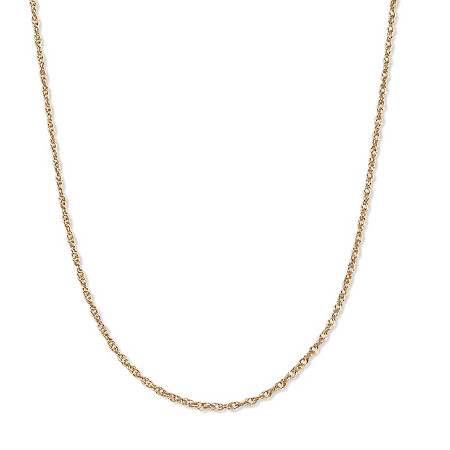 14k Yellow Gold Rope Chain Necklace 18