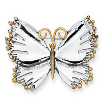 Silvertone Two-Tone Butterfly Pin/Brooch