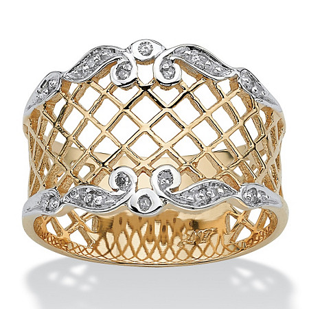 Diamond Accent Lattice Ring in 10k Gold at PalmBeach Jewelry