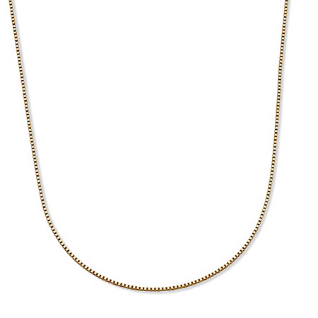 "Box-Link Chain Necklace in 14k Yellow Gold 18"" (1mm) at PalmBeach Jewelry"