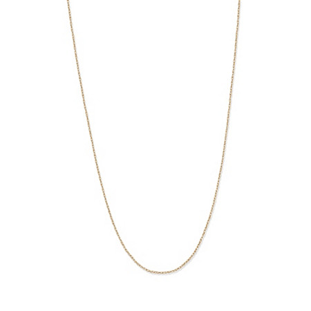 "Rope Chain Necklace in 14k Yellow Gold 18"" (.5mm) at PalmBeach Jewelry"