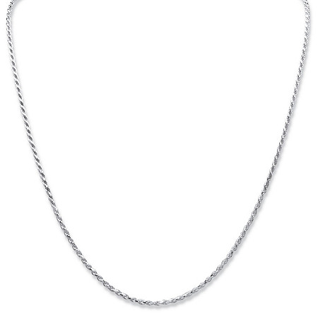 Diamond-Cut Rope Chain Necklace in Sterling Silver 20