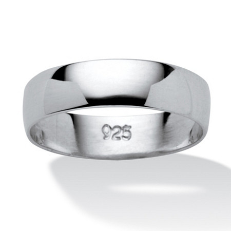 Polished Wedding Band in .925 Sterling Silver at PalmBeach Jewelry