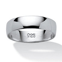 Polished Wedding Band in .925 Sterling Silver (5mm)