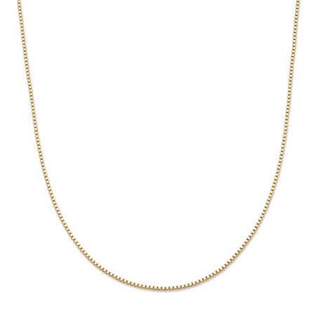"Venetian Box-Link Chain Necklace in 10k Yellow Gold 16"" (.6mm) at PalmBeach Jewelry"