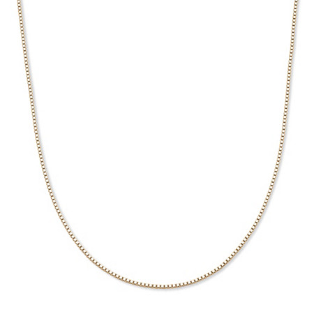 Venetian Box-Link Chain Necklace in 10k Yellow Gold 20