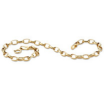 Rolo-Link Bracelet in Solid 10k Gold