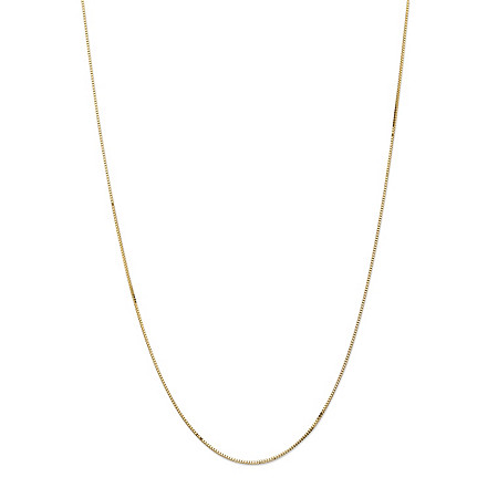 "Box-Link Chain Necklace in 14k Yellow Gold 16"" (1mm) at PalmBeach Jewelry"