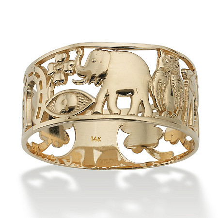 Good Luck Ring in 14k Gold at Direct Charge presents PalmBeach
