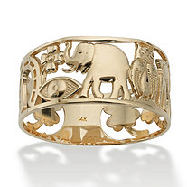 SETA JEWELRY Good Luck Ring in 14k Gold