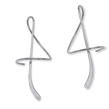 Sterling Silver Spiral Drop Earrings at PalmBeach Jewelry
