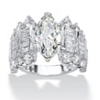 Related Item 6.55 TCW Marquise-Cut Cubic Zirconia Engagement Anniversary Ring in Sterling Silver