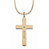 Related Item Personalized Cross and Cubic Zirconia Pendant Necklace in Yellow Gold Tone 20