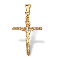 SETA JEWELRY 14k Yellow Gold Crucifix Pendant