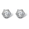 Related Item 4 TCW Round Cubic Zirconia Stud Earrings in Platinum over Sterling Silver