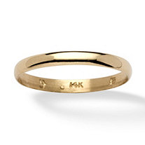 SETA JEWELRY 14k Yellow Gold Wedding Band (3mm)