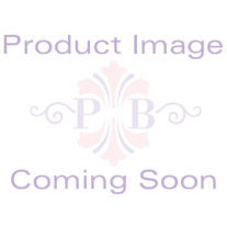 Round Personalized Silvertone Floral-Motif Trinket Box