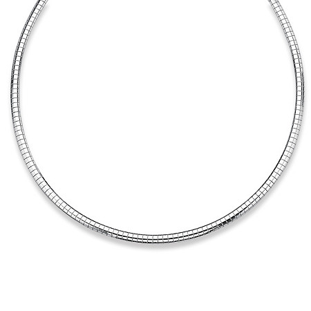 Omega-Link Necklace in Sterling Silver at PalmBeach Jewelry