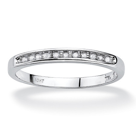 1/10 TCW Diamond Channel Ring in 10k White Gold at PalmBeach Jewelry