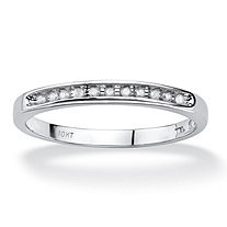 SETA JEWELRY 1/10 TCW Diamond Channel Ring in 10k White Gold